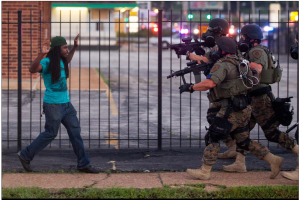 Ferguson Police Swat vs Black Man